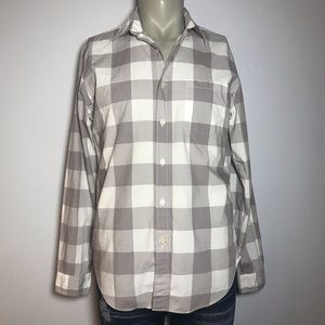 J. CREW Tailored Fit Plaid Button Down Shirt Med